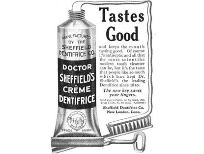 Anuncio pasta dentífrica 50s